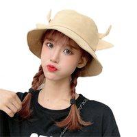 Широкие шляпы Breim Unisex хлопковое ведро шляпа шляпа молока корова печатает милые 3d рожок уши рыбака рыбака хх9d