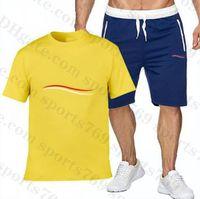 Erkek S Tasarımcı Eşofman Yaz 21ss Moda Plaj Sahil Tatil Tee Gömlek Şort Eşleştirme Mens Lüks T-shirt + Kısa Pantolon Setleri Outfi