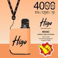 Factory Direct Sale Mesh Coil 4000puffs Higo-Magic Electronic Cigarette Disposable Vape 1200mAh Battery 10ml E-liquid Pods