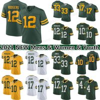 "12 Aaron Rodgers 10 Love Football Jersey 17 Davante Adam Green ""Bay""Packers ""Brett Favre 33 Aaron Jones 69 David Bakhtiari Mens 여성 청소년 유니폼"