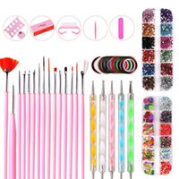 Nail Art Kits Professional Acrylic Nails Kit Painting Brushes Pen Pencil Designer Sticker For Manicure Decorations Set Supplies Tools