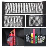 Storage Boxes & Bins 1 2pcs Universal Auto Back Bag String Car Rear Trunk Boot Mesh Seat Pocket Cage Organizer Magic Sticker Holder Net