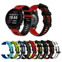 20/22mm Riemen doppelte Farbe Match Armband Sport Silikonband für Samsung Galaxy Watch Active 2 Huawei GT2 Uhrenarmband Garmin