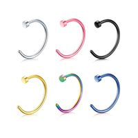 Moda Fake Septum Medical Titanium Anillo Piercing Piercing Plata Oro Cuerpo Clip Hoop Para Mujeres Niñas Septum Clip Hoop Jewelry Regalo 488 T2