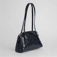 [EAM] Women Retro Crocodile Pattern PU Leather Flap Personality All-match Crossbody Shoulder Bag Fashion Tide 2021 18A144501
