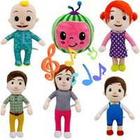 Cocomelon يمكن أن يغني لعبة الموسيقى الناعمة الكرتون الأسرة cocomelon jj family sister أخي أمي وأبي لعبة dall kids chritmas الهدايا الولايات المتحدة الأسهم