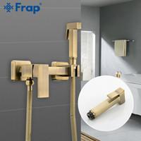 FARP Bidet Armaturen Badezimmermischer Duschkopf Heiße Kaltwasserwaschanlage WC-Wasserhahn Wandmontierter Bidet Sprayer Set