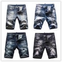 2021 Shorts pour hommes Jeans droitiers Jeans décontractés en coton bleu coton style style pantalon de hip-hop style 3691 shorts