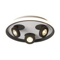 Plafoniere Zixing LED Light Light Style Style Lampada a montaggio a montaggio a superficie acrilica in ferro girevole a 3 testa per il soggiorno del corridoio