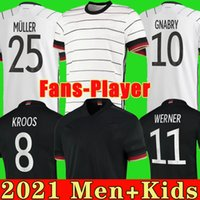 Германия Футбол Джерси 20 21 Вентиляторы Версия игрока Muller Gnabry Werner Hummels Kroos Sane Jersey 2020 2021 Европейский Кубок Футбольные Рубашки Мужчины Детский Комплект Униформа