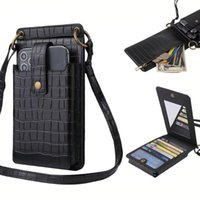 Card Holders Fashion Women Shoulder Bags Retro Alligator Pattern Solid Color Chain Messenger Phone Shopping Bag
