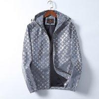 Tasarımcı Erkek Ceket Bahar Ve Sonbahar Windrunner Tee Moda Kapüşonlu Spor Rüzgarlık Rahat Fermuar Ceketler Giyim