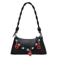Shoulder Bags Solid PU Leather Woven Strap Summer Chain Messenger Crossbody Tote Bag Purses And Handbags Bolsos Sac À Main
