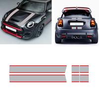 1 Takım Araba Hood Bonnet Çizgili Sticker Motor Kapak Bandı Arka Vinil Çıkartması Mini Cooper F56 R56 F55 F57 R57 JCW Araba Aksesuarları