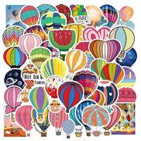 10/50 adet Sıcak Hava Balon Karikatür Çıkartmalar Kaykay Dizüstü Bavul Kask Gitar Çıkartması Telefon Hediye Sticker Araba