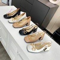 Designer Klassische Quadratische Zeh Frauen Kleid Schuhe Knöchelgurte Kleider Schuhleder Sandalen Frau Riemchen Folien Sandale mit Kastengröße 33-43