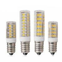 10pcs lot E14 LED Lamp 3W 4W 5W 7W 220V 240V LEDs Corn Bulb 33 51 75 SMD2835 360 Beam High Quality Ceramic Mini Chandelier Lights