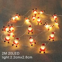 Christmas Decorations 2M Santa Claus Tree LED String Lights Garland Snowflakes Decoration Fairy Light For Home Year Xmas Decor