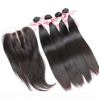 Greatremy? 8A Wholehead Top Closure with 4pcs Hair Bundles U...