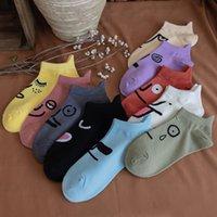 2021 Woman Cartoon Anime Socks Cotton Korean Ship Socks Fun Funny Creative Series sock women Dropshipping