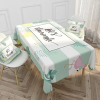 Table Cloth Dining Waterproof Cotton Linen Tablecloth Nordic Flamingo Green Oblong El Household Coffee Tea Cover