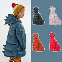 2021 Yeni Kukukids Erkek Kış Coat Çocuk Giysileri Moda Dinozor Aşağı Ceketler Kızlar Marka Tasarım Karış Toplanır Snowsuit Toddler Kız Dış Giyim R222