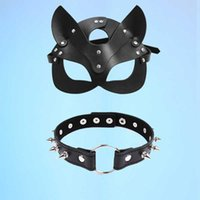 Erotic Sexy Leather women Mask Cosplay Bdsm Fetish female Halloween Masquerade Ball Fancy Cat Ears Masks Sex Toys Accessories Y0913