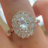 Ringe 18 Karat Rose Gold Ring Herkunft Natürlich 3 CTS Moissanite Edelstein Hochzeit Schmuck Luxus Unsichtbare Einstellung Oval Anillos de Box