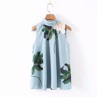 2021 جديد إمرأة أنيقة الأزهار طباعة عارضة سموك البلوزات السيدات أكمام الظهر القوس مرتبطة أنيقة قمصان الترفيه قميص قمم LS4074