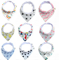 31 estilos Babets Babets 100% algodón Dot Chevron Bandana Babero Babador Babador Saliva Bavoir Toalla Baberos para Newborn Toddler Girls Boys KSF12