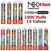 Masking Yüksek Pro Max Disafosable Pods Cihaz Kiti E-Sigaralar 1500 Puffs 850 mAh Pil 4.5 ML Prefiç Kartuş Pod Vape Sopa Kalem vs MK GT Kitleri