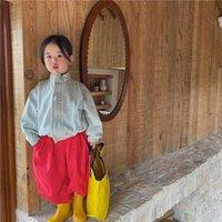 Jackets Autumn 2021 Korean Children's Denim Jacket Wash Stand Collar Kids Girls Jeans