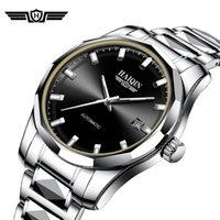 Montres Montres HAIQULES AUTOMATIQUES MÉCANIQUES Hommes Hommes Hommes Top Hommes Montre Acier Étanche Montre-Bracelet Reloj Hombres 2021