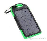 5000 mAh Güneş Enerjisi Bankası Su Geçirmez Darbeye Dayanıklı Toz Geçirmez Taşınabilir Powerbank Harici Pil Cep Telefonu Android Için