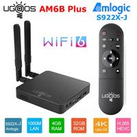 Ugoos AM6B Plus TV Box Amlogic S922X-J Android 9.0 DDR4 4GB RAM 32GB WiFi6 1000M BT5.0 OTT 4K AM6PLUS TVBOM