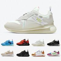Yeni Varış Zirvesi Beyaz Üniversite Mavi Kayma Obj Erkekler Kadınlar Koşu Ayakkabıları Reaksiyonu Obj Takım Turuncu Çöl Cevheri LSU Erkekler Spor Trainer Sneakers