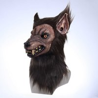 Animal Wolf Latex máscara hombre lobo iluminación realista y feroz carnaval de carnaval disfraz de headgear Halloween Cos Party Props G0910