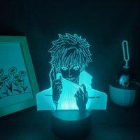 Night Lights Jujutsu Kaisen Anime Figure Gojo Satoru 3D LED Lamps RGB Neon USB Bedroom Table Desk Decoration Manga Birthday Gift