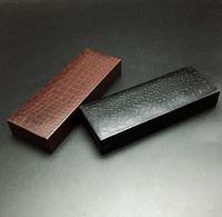 هدية التفاف 100 قطعة / الوحدة الأعمال القلم pacakging ورقة مربع أسود الوجه بقعة تقليد pu sn687
