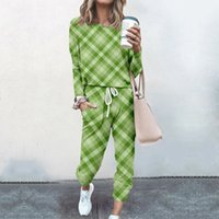 Retro striped plaid printed slim fit suit autumn and winter clothing 3D digital printing