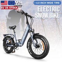 Womens Blectric Bicycle 750W 48V Electric Snow E-Bike 20 Inch Folding Fat Tyre Mountain Ebike Bafang Motor For Mens Bike