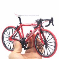 مصغرة 1:10 سبيكة دراجة نموذج دييكاست المعادن فنجر الدراجة الجبلية سباق لعبة بيند الطريق محاكاة مجموعة اللعب