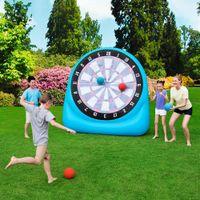 PVC-Mini-aufblasbarer Dart-Board-Fußball-Spiel-Schlauchboot-Fußballschießen Pfosten-Board mit Luftstoß für Kinder