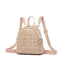 Backpack Straw Backbags Women Designer Kids Bags Sac Bandouliere Femme Mini Mochila Vintage Bolsos Mujer Travel Rugzak Vrouwen