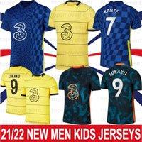 21 22 Lukaku Soccer Jerseys Ziyech Pulisic Mount Kante Havertz Werner Abraham Chilwell Giroud 2021 2022 شاول كرة القدم قميص CFC الرجال الاطفال كيت الرئيسية thrid S-XXL