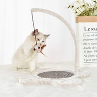 New cat board plush sisal hanging rope mouse toys scratch bite supplies wholesale