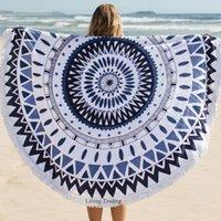 Towel Round Bohemia Beach 100% Cotton Printed Tassel Knitted Playa Summer Swim 150*150cm Toalla Bath Serviette De Plage