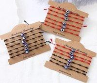 12pcs set Turkey Blue Evil Eye Bracelet Women Handmade Rope Chain Bracelets Girl Party Jewelry Gift