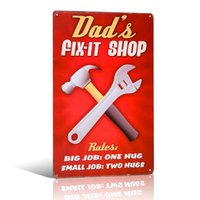 DAD'S FIX-IT Boutique Tin Signe Home Magasin Ferme Décor Ferme Vinage Affiche murale Décor
