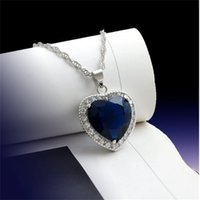 Big Heart Sapphire Diamond Pendant Real 925 Sterling Silver Charm Party Wedding Pendants Necklace For Women Bridal Jewelry Gift